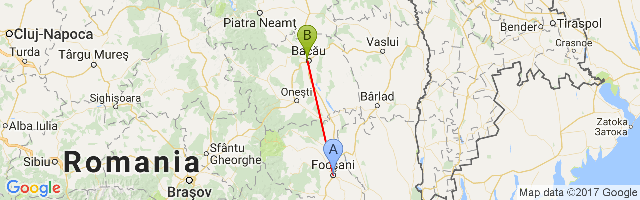 Trains Focşani Bacău Times Prices And Tickets Starting From - Focşani map