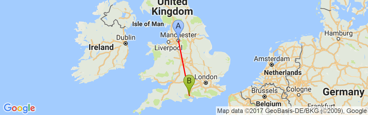 virail-map-Manchester, Angleterre-Southampton.png